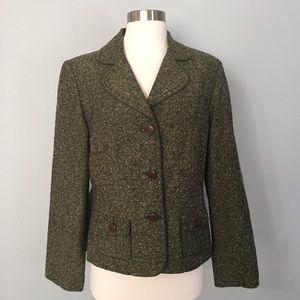 Apt 9 Green Tweed Blazer